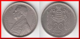**** MONACO - 20 FRANCS 1947 - LOUIS II **** EN ACHAT IMMEDIAT !!! - Monaco