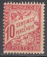 MONACO      SCOTT NO. J3     MINT HINGED     YEAR  1905 - Monaco