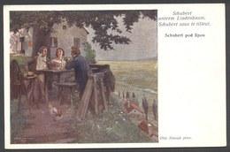 Schubert Untern Lindenbaum . Schubert Sous Le Tilleul - Otto Nowak - N°1594 - Voir 2 Scans - Música Y Músicos