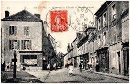 61 BELLEME - Place De La Liberté Et Rue Boucicaut   (Recto/Verso) - France