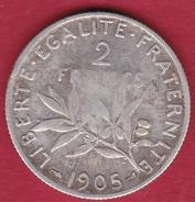 France 2 Francs Argent Semeuse 1905 - France
