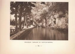 1939 - Héliogravure -  Besançon (Doubs) - La Cascade Du Bout Du Monde - FRANCO DE PORT - Vieux Papiers
