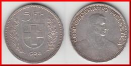 **** SUISSE - SWITZERLAND - SCHWEIZ - 5 FRANCS 1923 B - SILVER - ARGENT  **** EN ACHAT IMMEDIAT - Suiza
