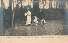BELGIQUE / BELGIE /  PROMENADE MATINALE DES PRINCES LEOPOLD ET CHARLES - Familles Royales
