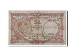 Belgique, 20 Francs, 1941, KM:111, 1941-08-08, B - [ 6] Treasury