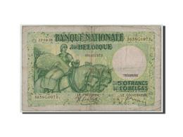 Belgique, 50 Francs-10 Belgas, 1938, KM:106, 1938-04-22, B - [ 6] Staatskas