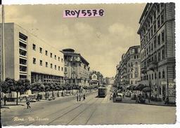Lazio-roma Quartiere S.giovanni Via Taranto Veduta Tram Non Piu'attivo Poste Auto D'epoca Vespa Persone Animata Anni 50 - Autres