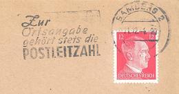 Flamme D'Allemagne (Bambers 21/12/44 -  Zur Ortsangabe ...) (sur Enveloppe Entière) - BRD
