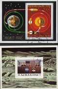 Raumfahrt-Projekt 1971 Apollo Ajman Blocks 232+272 O 3€ Rakete Marsprojekt Hojas Blocs NASA Space Sheets S/s Bf VAE - Space