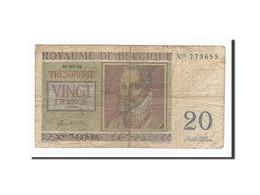 Belgique, 20 Francs, KM:132a, 1950-07-01, TB - [ 6] Treasury