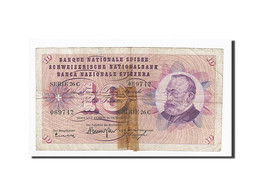 Suisse, 10 Franken, 1961-10-26, KM:45g, B - Suiza