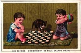 6 TRADE Cards Chromos CHESS ECHECS CHACH  Biljart Billard Loto Domino Card Game Jeu De Cartes - Echecs