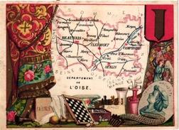 1 TRADE Card Chromo CHESS ECHECS CHACH  Carte GEOGRAPHIQUE DEPARTEMENT OISE France - Echecs