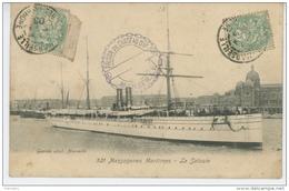 """BATEAUX - PAQUEBOTS - MARSEILLE - """"LE SALAZIE """" Des Messageries Maritimes - Dampfer"""