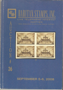 Raritan Stamps Auction 36,Sep 2008 Catalog Of Rare Russia Stamps,Errors & Worldwide Rarities - Catalogues For Auction Houses