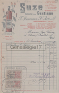 94 831B MAISONS ALFORT SEINE 1916 Aperitif Gentiane SUZE Des Ets F. MOUREAUX - H. PORTE De PARIS LYON BORDEAUX MARSEILLE - France