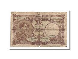 Belgique, 20 Francs, 1945, KM:111, 1945-04-20, B - [ 6] Treasury