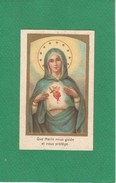 Image Pieuse Religieuse Holy Card Santini Illustration Vierge Bon Point Offert Par SALVY Aliment Des Nourrissons - Images Religieuses