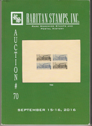 Raritan Stamps Auction 70,Sep 2016 Catalog Of Rare Russia Stamps,Errors & Worldwide Rarities - Catalogues For Auction Houses