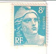 MARIANNE DE GANDON...VARIETE POINTS BLANCS SUR CHEVELURE ET JOUE..ET  * RF*.......non Oblitere Sur Carte - Curiosidades: 1960-69 Cartas