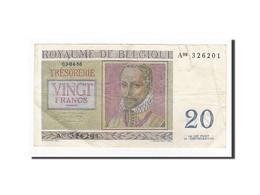 Belgique, 20 Francs, KM:132b, 1956-04-03, TTB - [ 6] Treasury