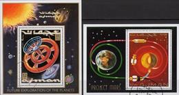 US-Raumstation 1971 Apollo Ajman Blocks 232+294 O 5€ Rakete Marsprojekt Hojas Blocs NASA M/s Space Sheets Ss Bf VAE - Space