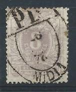N°29, 8c Mauve Obl Ovale PD/MIDI 1/ 1878 - 1869-1883 Leopold II