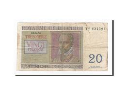 Belgique, 20 Francs, KM:132b, 1956-04-03, TB - [ 6] Treasury