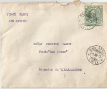 6Mm-916: 4 Centavos Brief Verstuurd Uit SAN JAVIER > Estacion De VILLA-ALEGRE  -4MAY 15 - Chili