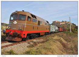 R 96 FS Treni D 342.4010 San Giovanni D´Assi (SI) Rotabili Railroad Trein Railways Treno Merci Ferrovie Italiane - Trains