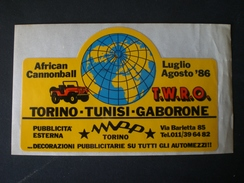 ADESIVO AFRICA CANNONBALL TORINO TUNISI GABORONE 86 - Stickers