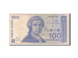 Croatie, 1000 Dinara, 1991, KM:22a, 1991-10-08, TB - Croatia