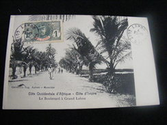 Cpa  Côte Occidentale D' Afrique Côte D' Ivoire -- Le Boulevard à Grand Lahou GX4 - Côte-d'Ivoire