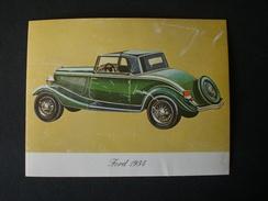 ADESIVO AUTO CAR FORD 1934 - Stickers