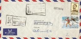 Liberia 1980 Monrovia Haile Delassie Lake Placid Winter Olympics Registered Cover - Liberia