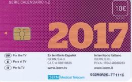 ISN-231 TARJETA DE ESPAÑA DE ISERN  DE LA SERIE CALENDARIO Nº2 (CALENDAR) 2017 - España