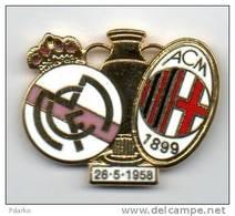 Mi2 Milan Champions - Real Madrid Calcio Coppa Soccer Pins Champion Ligue Cup Football - Calcio