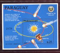Paraguay, Comet Halley,  1985**  Space, Espace,  SONDE GIOTTO