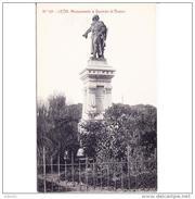 LNTP8025ACPA-LFTD11678TBES.Tarjeta Postal De LEON.arquiteC.ARTE.escultura.jardines.MONUMENTO  A GUZMAN EL BUENO En LEON - Esculturas