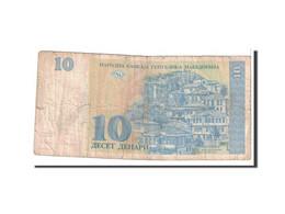 Macédoine, 10 Denari, 1993, KM:9a, B - Macedonia