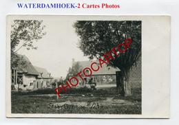 WATERDAMHOEK-Quartier Du Commandement-2x CARTES PHOTOS Allemandes-Guerre 14-18-1 WK-BELGIEN-Flandern-Militaria- - Moorslede