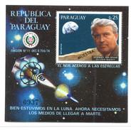 Paraguay, Wernher Von Braun, 1977**  Space, Espace, Spazio