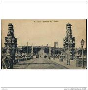 MDD1TP8362CPA-LFT160TBES.Tarjeta Postal DE MADRID..coches,carros,ARTE.esculturas.,tranvias En El PUENTE DE TOLEDO - Esculturas