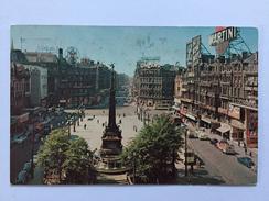 """PLACE DE BROUCKÈRE Et LES BOULEVARDS DU CENTRE """"Tram ,véhicules Année 50 ,publicite Martini Cinzano ) - Avenues, Boulevards"""