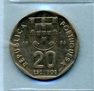 1986  20  ESCUDOS - Portugal