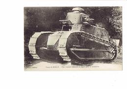 Cpa Militaria - 10 - Camp De Mailly - Char D'assaut Attendant Le Départ Pour La Manœuvre - Tank - Canon - Matériel