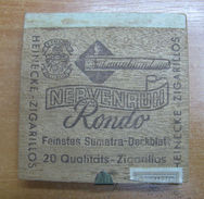 AC - HEINECKE NERVENRUH RONDO CIGARS TOBACCO OPENED BOX FOR COLLECTION  - Around Cigars
