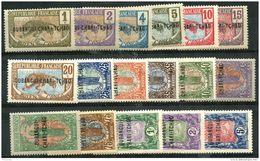 Oubangui Chari (1915) N 1 à 17 * (charniere)