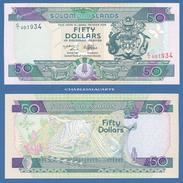 1997 SOLOMON ISLANDS 50$ HERALDIC SHIELD  BUTTERFLIES & REPTILES  KRAUSE 22  SUPERB UNC. CONDITION - Salomonseilanden
