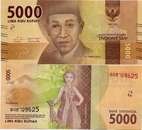 INDONESIA       5000 Rupiah      P-New       2016/2016   UNC - Indonesia